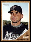 2011 Topps Heritage #130  Omar Infante  Front Thumbnail