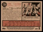 2011 Topps Heritage #180  Jim Thome  Back Thumbnail