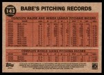 2011 Topps Heritage #143 BR  -  Babe Ruth Greatest Sports Hero Back Thumbnail