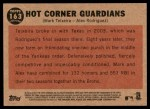 2011 Topps Heritage #163   -  Mark Teixeira / Alex Rodriguez Hot Corner Guardians Back Thumbnail