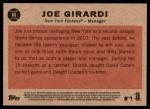 2011 Topps Heritage #88  Joe Girardi  Back Thumbnail