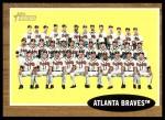 2011 Topps Heritage #158   Braves Team Front Thumbnail