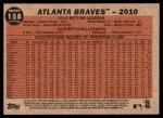 2011 Topps Heritage #158   Braves Team Back Thumbnail