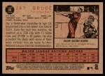 2011 Topps Heritage #80  Jay Bruce  Back Thumbnail