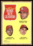 2011 Topps Heritage #54   -  Albert Pujols / Adam Dunn / Joey Votto NL HR League Leaders Front Thumbnail
