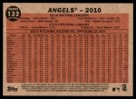 2011 Topps Heritage #132   Angels Team Back Thumbnail