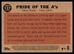 2011 Topps Heritage #127   -  Dallas Braden / Trevor Cahill Pride of the A's Back Thumbnail