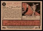 2011 Topps Heritage #89  Jake Peavy  Back Thumbnail