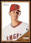 2011 Topps Heritage #96  Jered Weaver  Front Thumbnail