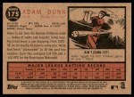 2011 Topps Heritage #175  Adam Dunn  Back Thumbnail