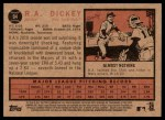 2011 Topps Heritage #94  R.A. Dickey  Back Thumbnail