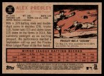 2011 Topps Heritage #86  Alex Presley  Back Thumbnail