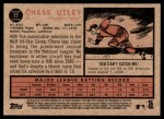 2011 Topps Heritage #77  Chase Utley  Back Thumbnail