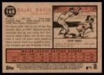2011 Topps Heritage #168  Rajai Davis  Back Thumbnail