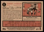 2011 Topps Heritage #63  Tommy Hanson  Back Thumbnail
