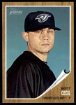 2011 Topps Heritage #134  Brett Cecil  Front Thumbnail