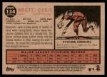 2011 Topps Heritage #134  Brett Cecil  Back Thumbnail