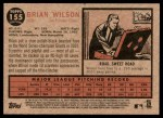 2011 Topps Heritage #155  Brian Wilson  Back Thumbnail
