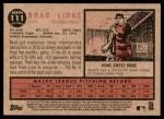 2011 Topps Heritage #111  Brad Lidge  Back Thumbnail