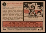 2011 Topps Heritage #49  Jordan Brown  Back Thumbnail