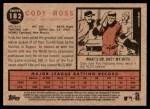 2011 Topps Heritage #182  Cody Ross  Back Thumbnail