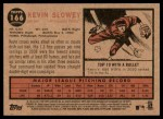 2011 Topps Heritage #166  Kevin Slowey  Back Thumbnail