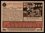 2011 Topps Heritage #93  Nick Swisher  Back Thumbnail