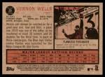 2011 Topps Heritage #28  Vernon Wells  Back Thumbnail