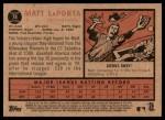 2011 Topps Heritage #78  Matt LaPorta  Back Thumbnail