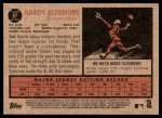 2011 Topps Heritage #97  Grady Sizemore  Back Thumbnail