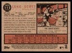 2011 Topps Heritage #112  Luke Scott  Back Thumbnail