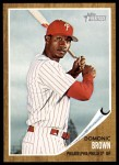 2011 Topps Heritage #104  Domonic Brown  Front Thumbnail