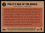 2011 Topps Heritage #72   -  Jimmy Rollins / Chase Utley Philly's Men Up the Middle Back Thumbnail