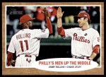 2011 Topps Heritage #72   -  Jimmy Rollins / Chase Utley Philly's Men Up the Middle Front Thumbnail