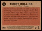 2011 Topps Heritage #29  Terry Collins  Back Thumbnail