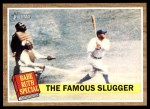 2011 Topps Heritage #138 BR  -  Babe Ruth The Famous Slugger Front Thumbnail