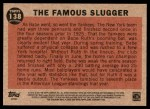 2011 Topps Heritage #138 BR  -  Babe Ruth The Famous Slugger Back Thumbnail