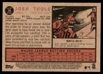2011 Topps Heritage #26  Josh Thole  Back Thumbnail