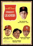 2011 Topps Heritage #60   -  Tim Lincecum / Roy Halladay / Ubaldo Jimenez / Adam Wainwright NL K League Leaders Front Thumbnail