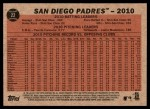2011 Topps Heritage #22   Padres Team Back Thumbnail