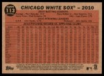 2011 Topps Heritage #113   White Sox Team Back Thumbnail