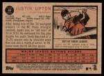 2011 Topps Heritage #44  Justin Upton  Back Thumbnail