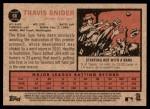 2011 Topps Heritage #68  Travis Snider  Back Thumbnail