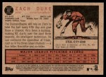 2011 Topps Heritage #67  Zach Duke  Back Thumbnail
