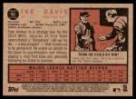 2011 Topps Heritage #85  Ike Davis  Back Thumbnail
