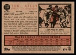 2011 Topps Heritage #109  Ted Lilly  Back Thumbnail