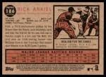 2011 Topps Heritage #186  Rick Ankiel  Back Thumbnail