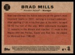 2011 Topps Heritage #12  Brad Mills  Back Thumbnail