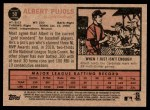 2011 Topps Heritage #50  Albert Pujols  Back Thumbnail