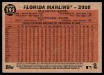 2011 Topps Heritage #192   Marlins Team Back Thumbnail